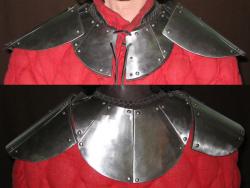 Оплечья кожаные со стальными накладками