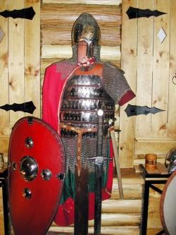 Костюм-доспех воина Княжеской Руси 14 века.