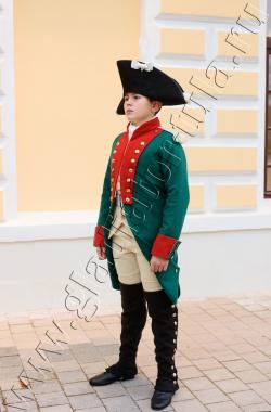 Мундир кадета Сухопутного Кадетского Корпуса с 1767 по 1786 годы