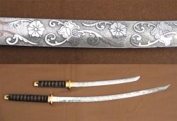 Комплект самурайских мечей: катана и вакидзаши